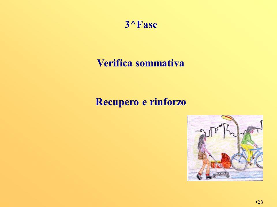 3^Fase Verifica sommativa Recupero e rinforzo