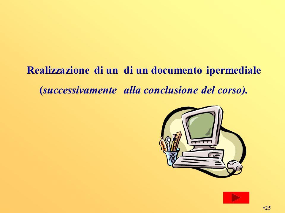 Realizzazione di un di un documento ipermediale