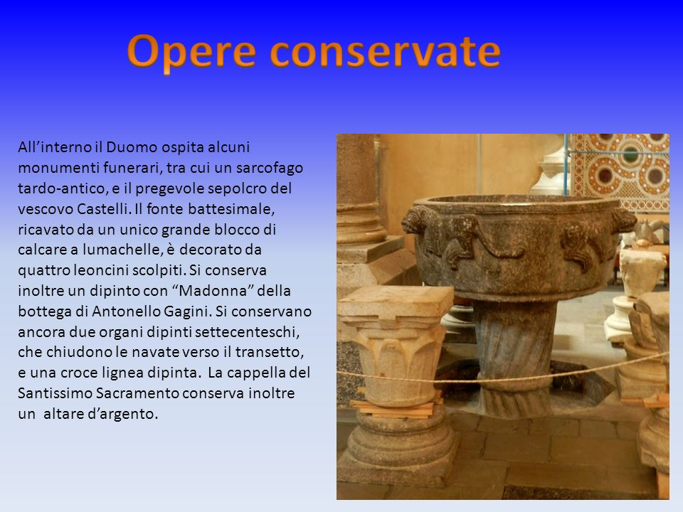 Opere conservate