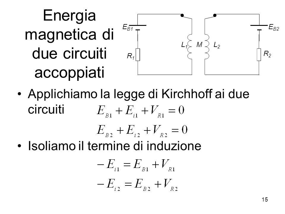Energia magnetica di due circuiti accoppiati