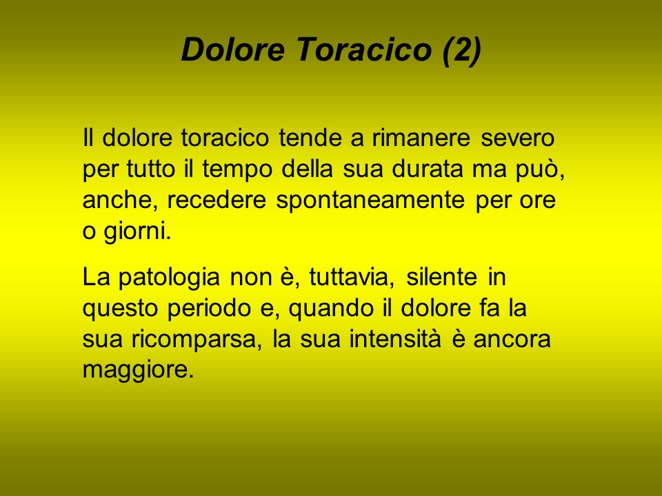 Dolore Toracico (2)