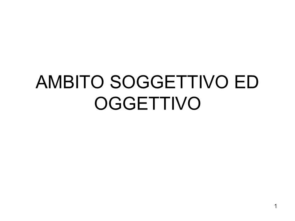 AMBITO SOGGETTIVO ED OGGETTIVO