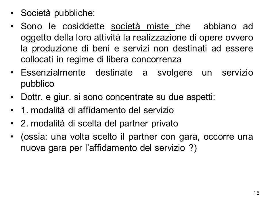 Società pubbliche: