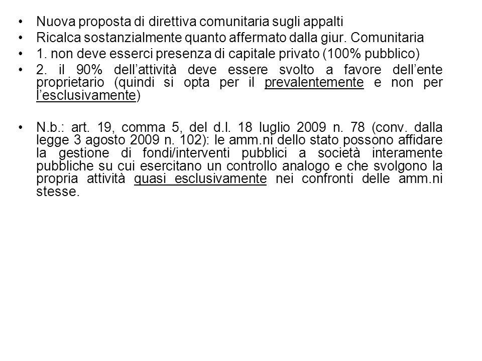 Nuova proposta di direttiva comunitaria sugli appalti