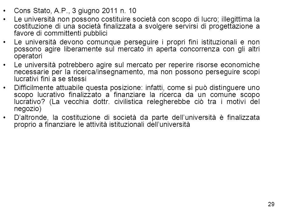 Cons Stato, A.P., 3 giugno 2011 n. 10