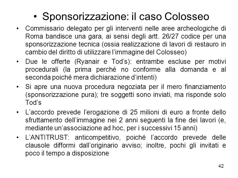 Sponsorizzazione: il caso Colosseo