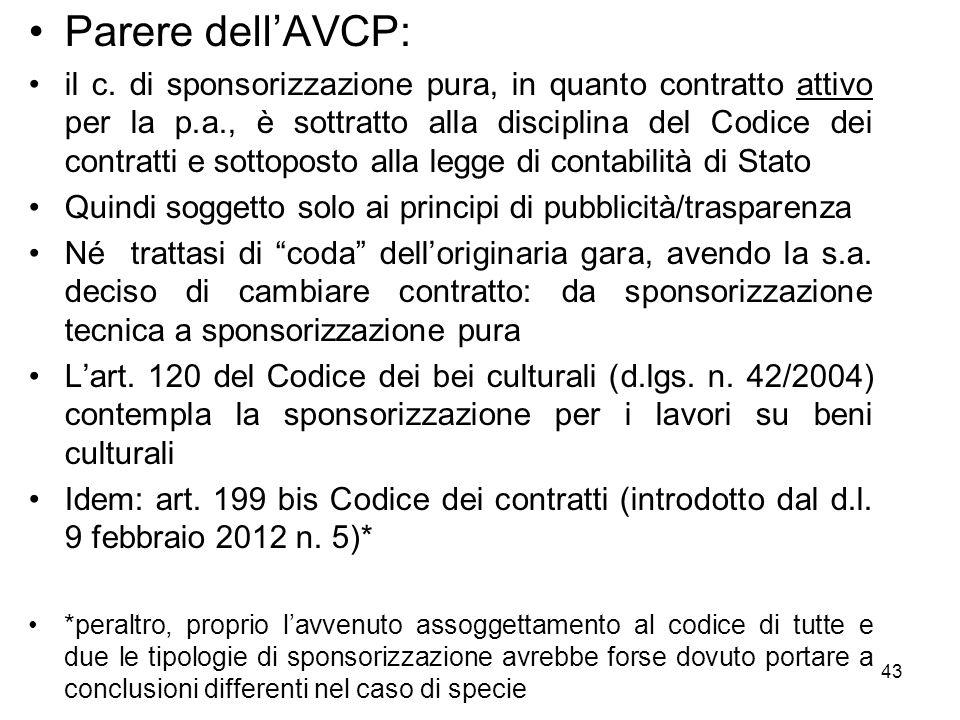 Parere dell'AVCP: