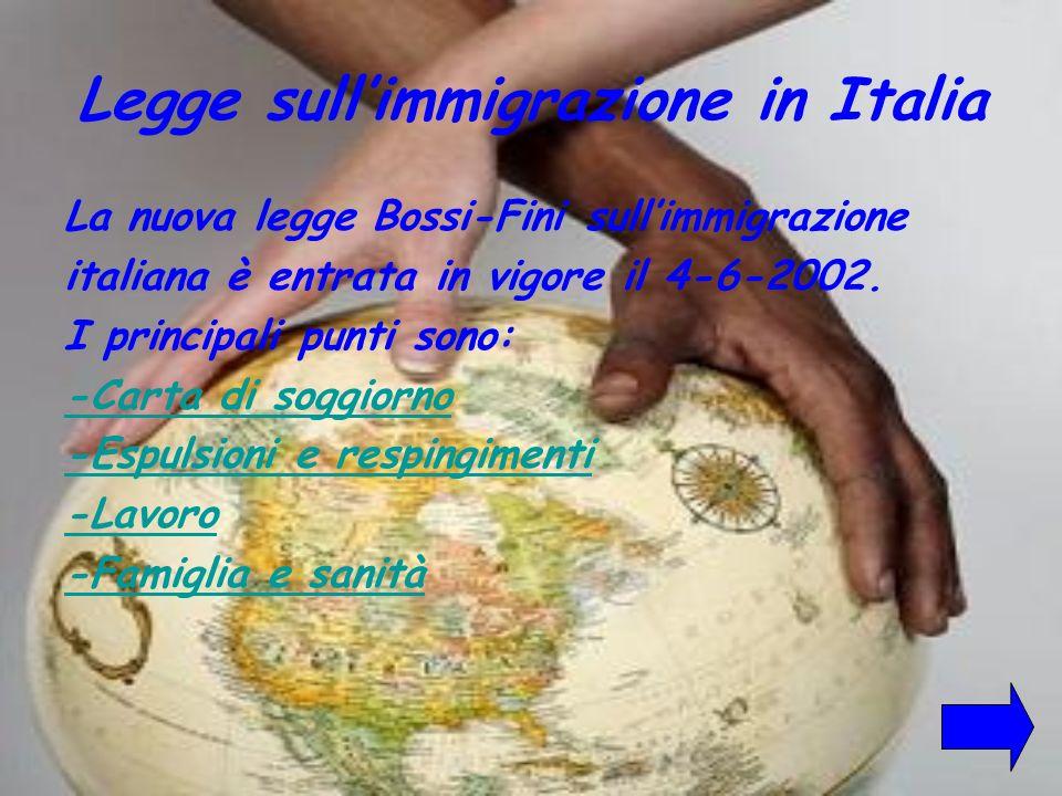 Legge sull'immigrazione in Italia