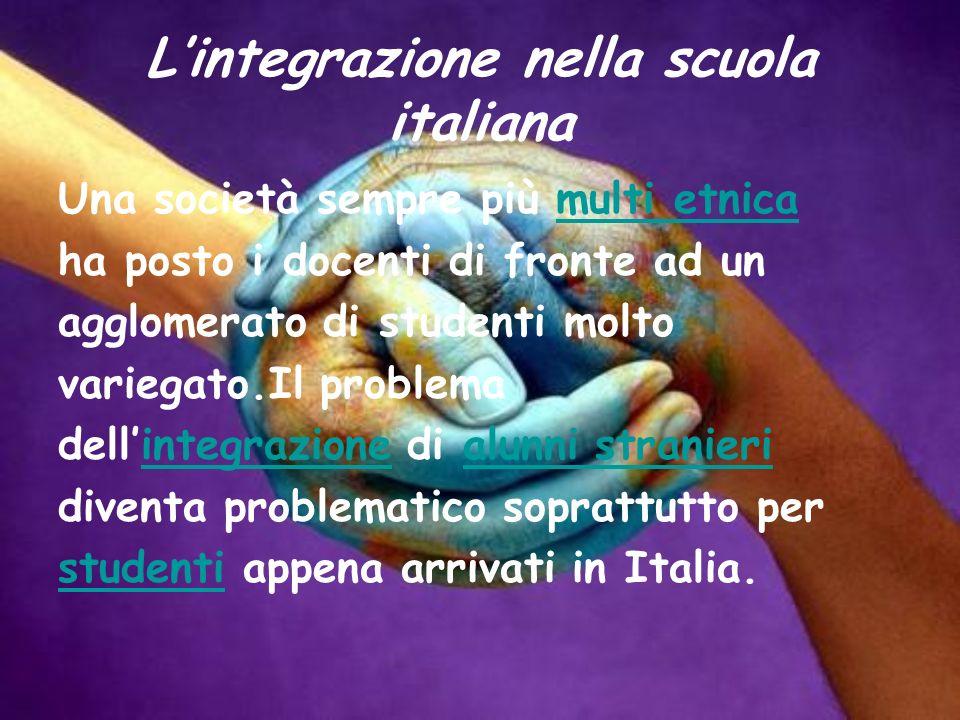 L'integrazione nella scuola italiana