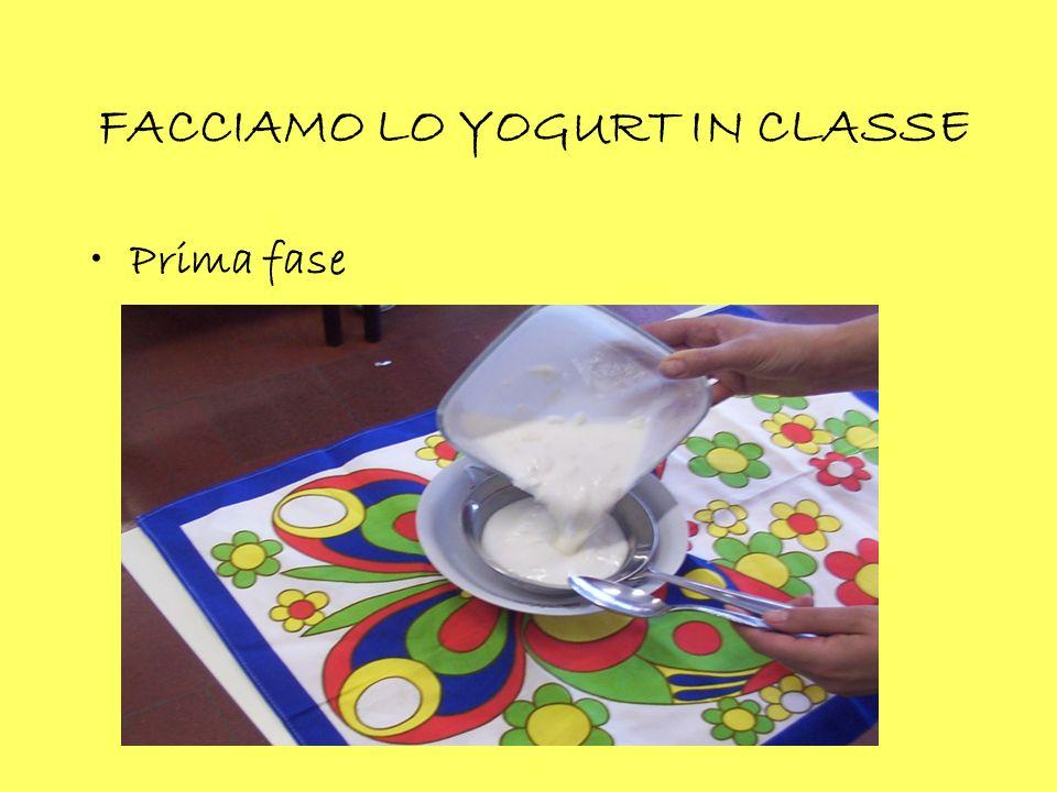 FACCIAMO LO YOGURT IN CLASSE