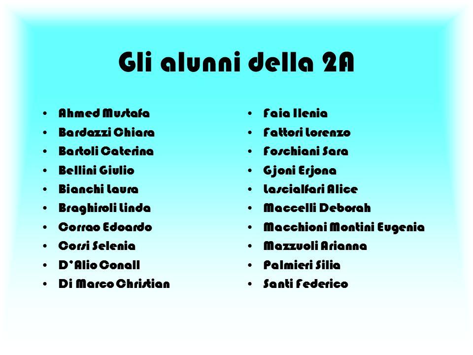 Gli alunni della 2A Ahmed Mustafa Bardazzi Chiara Bartoli Caterina