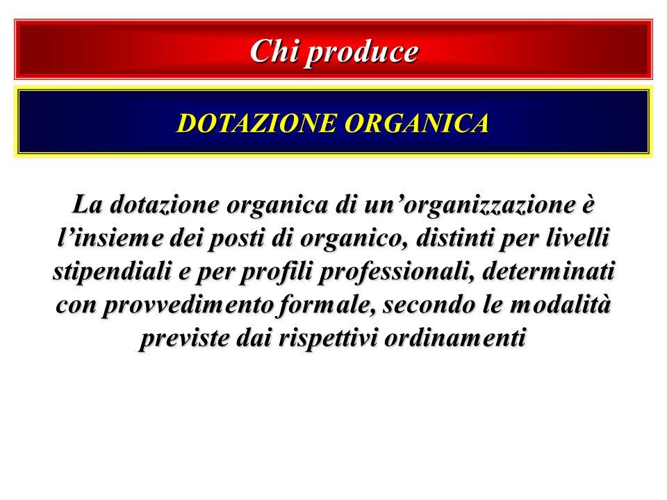 Chi produce DOTAZIONE ORGANICA