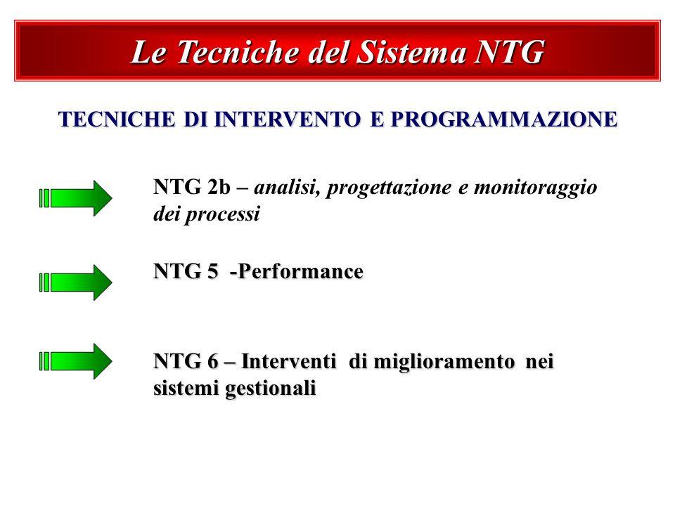 Le Tecniche del Sistema NTG TECNICHE DI INTERVENTO E PROGRAMMAZIONE