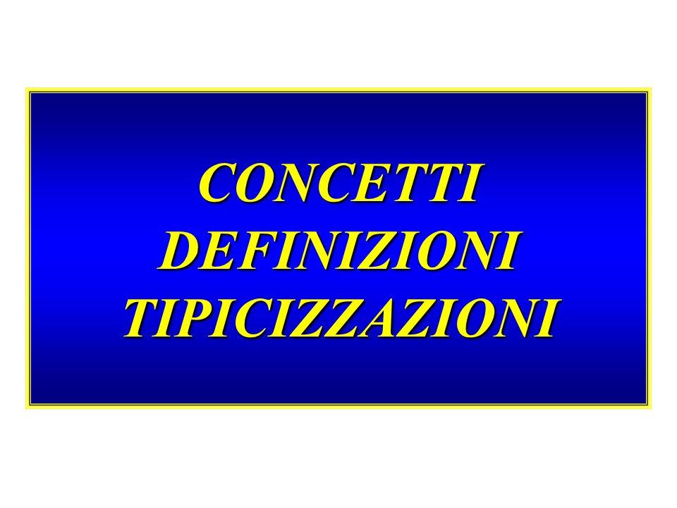 CONCETTI DEFINIZIONI TIPICIZZAZIONI
