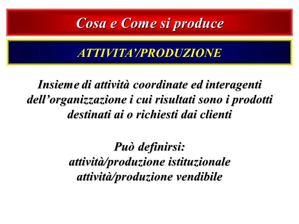 ATTIVITA'/PRODUZIONE