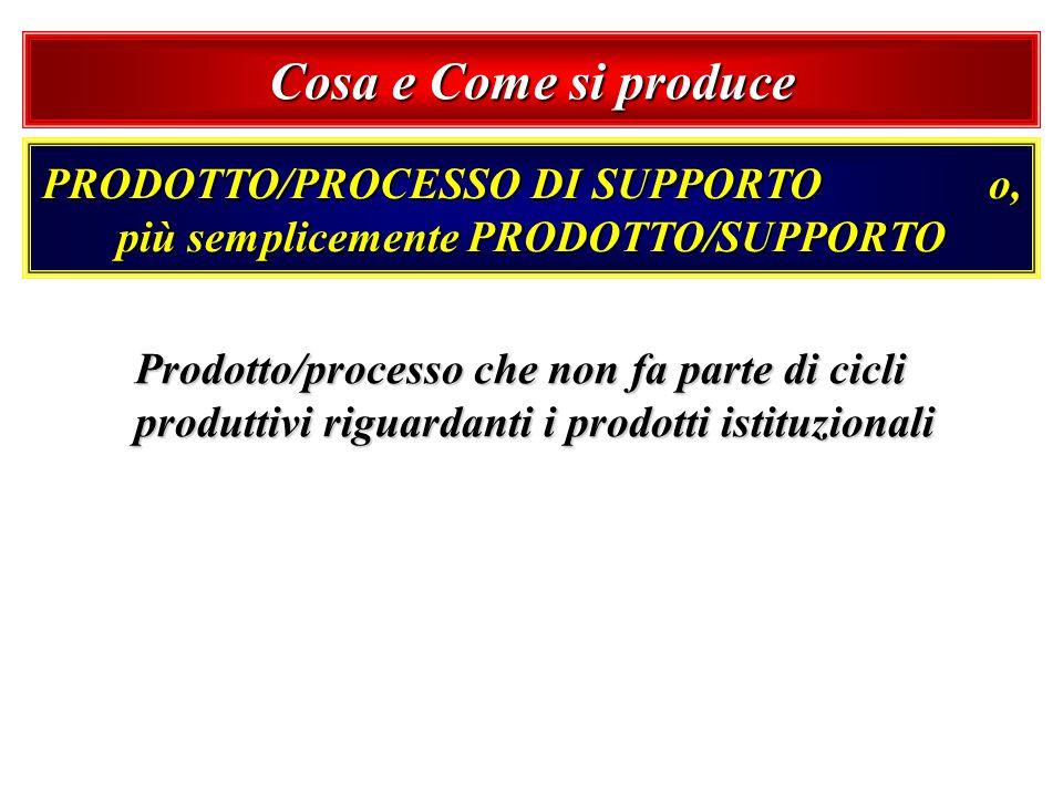 PRODOTTO/PROCESSO DI SUPPORTO o, più semplicemente PRODOTTO/SUPPORTO