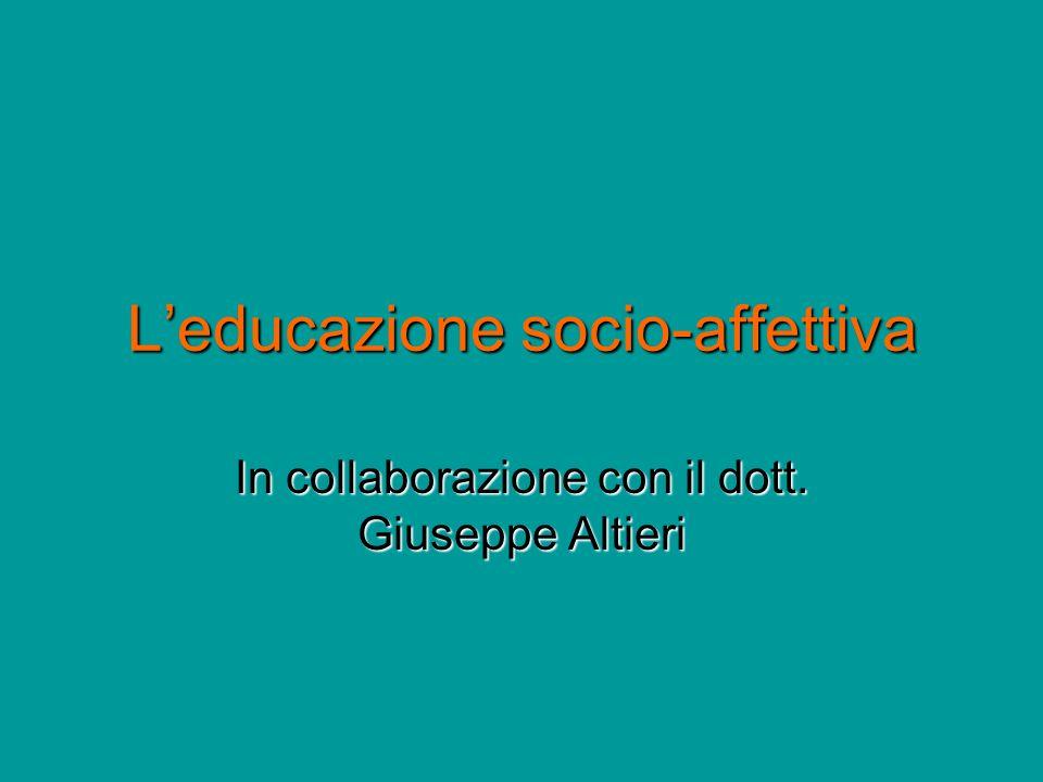 L'educazione socio-affettiva