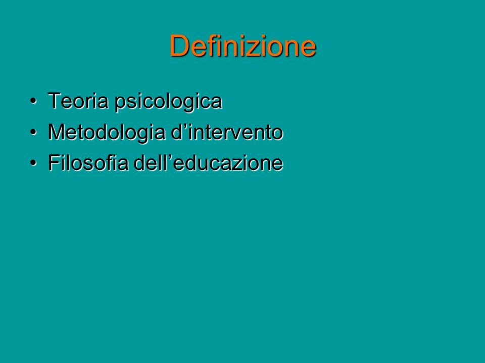 Definizione Teoria psicologica Metodologia d'intervento