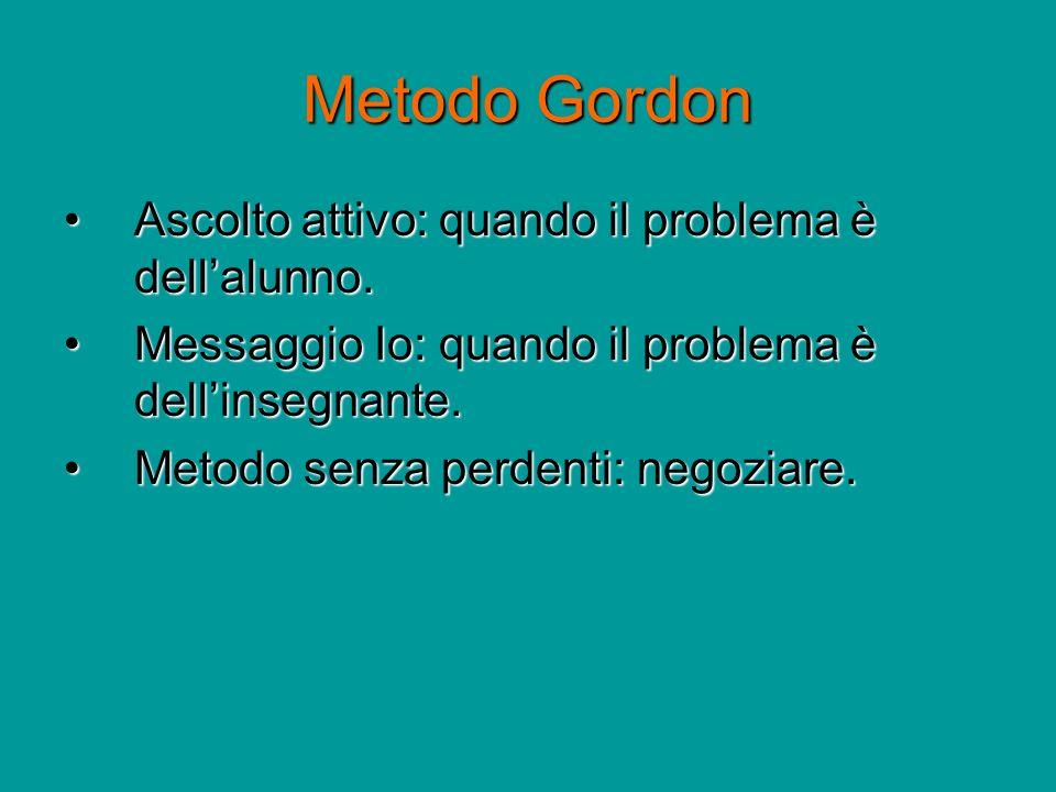 Metodo Gordon Ascolto attivo: quando il problema è dell'alunno.
