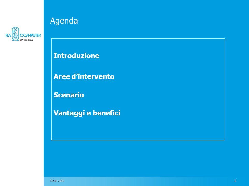Introduzione Aree d'intervento Scenario Vantaggi e benefici