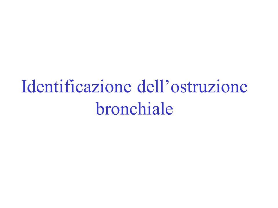 Identificazione dell'ostruzione bronchiale