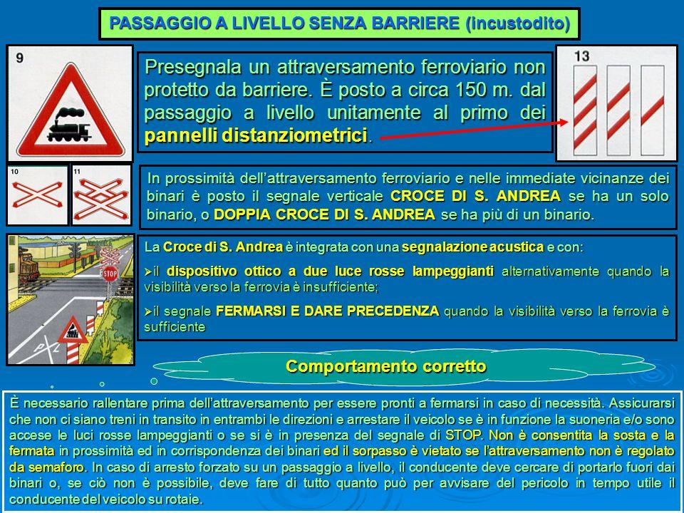 PASSAGGIO A LIVELLO SENZA BARRIERE (incustodito)