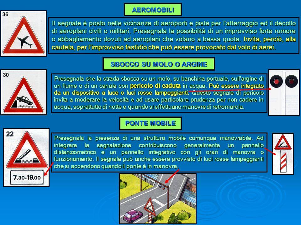 AEROMOBILI SBOCCO SU MOLO O ARGINE PONTE MOBILE