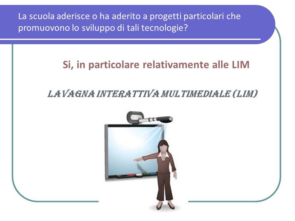 Si, in particolare relativamente alle LIM