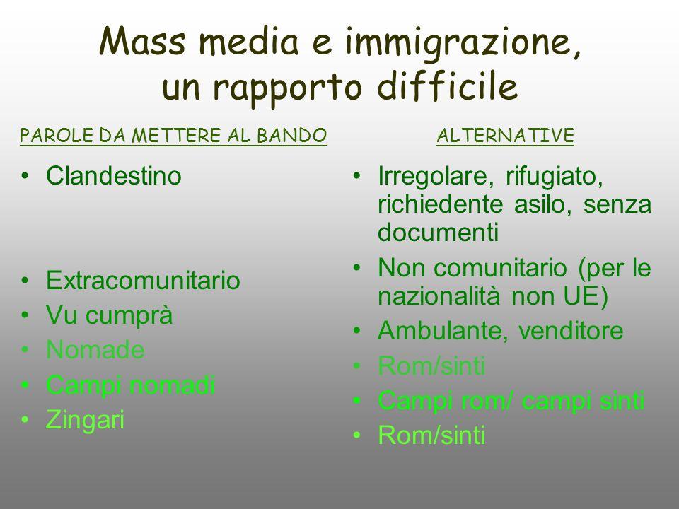 Mass media e immigrazione, un rapporto difficile