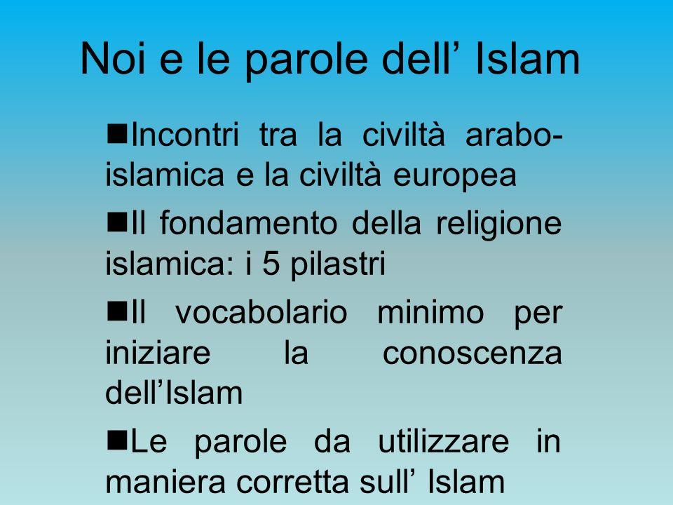 Noi e le parole dell' Islam