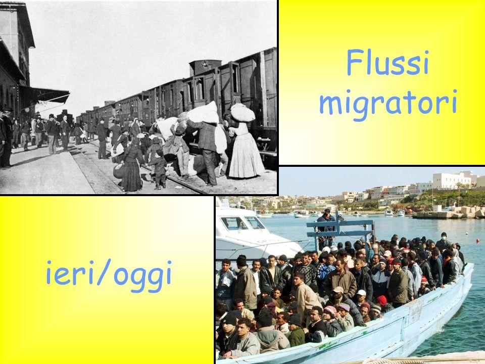 Flussi migratori ieri/oggi