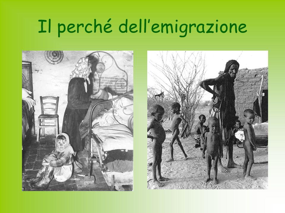 Il perché dell'emigrazione