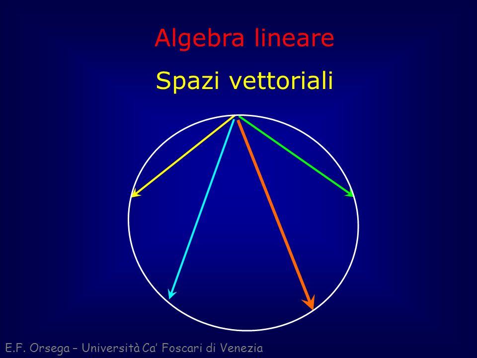 Algebra lineare Spazi vettoriali