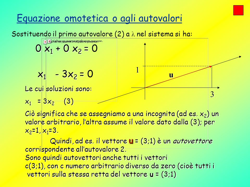 Equazione omotetica o agli autovalori