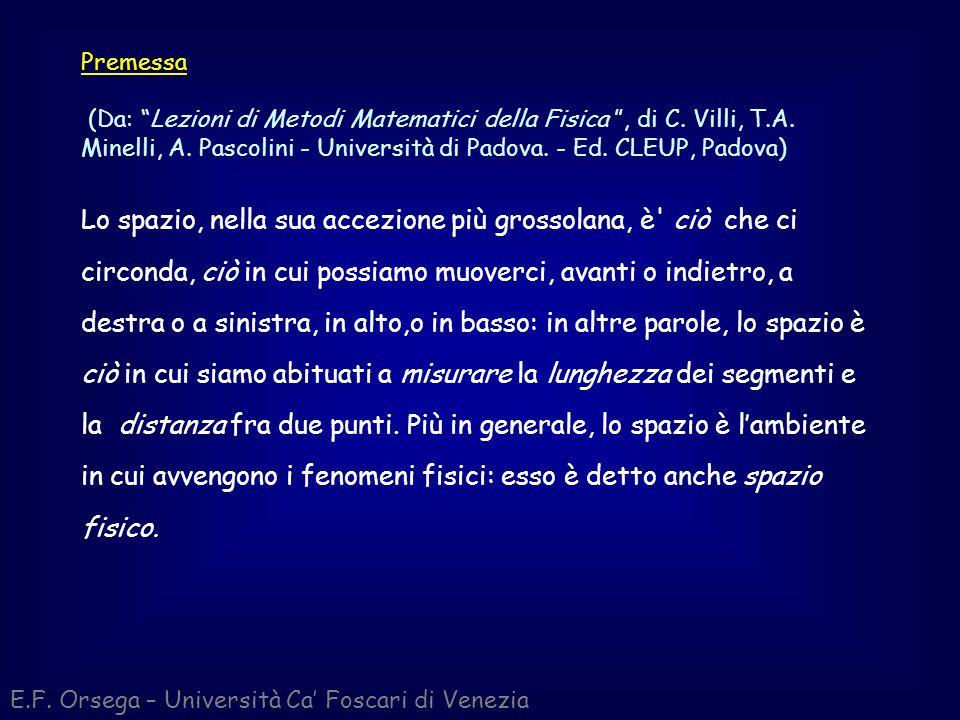 Premessa (Da: Lezioni di Metodi Matematici della Fisica , di C. Villi, T.A. Minelli, A. Pascolini - Università di Padova. - Ed. CLEUP, Padova)