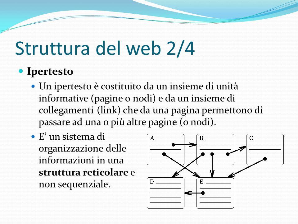 Struttura del web 2/4 Ipertesto