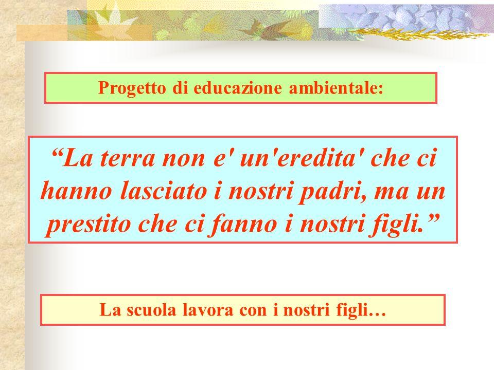 Progetto di educazione ambientale: