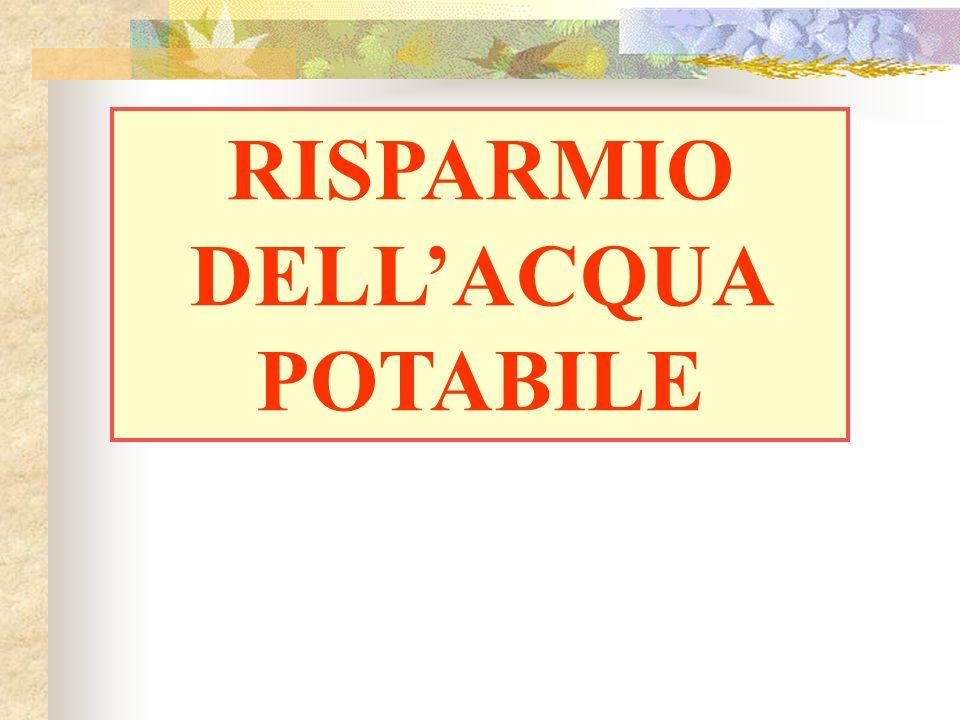 RISPARMIO DELL'ACQUA POTABILE