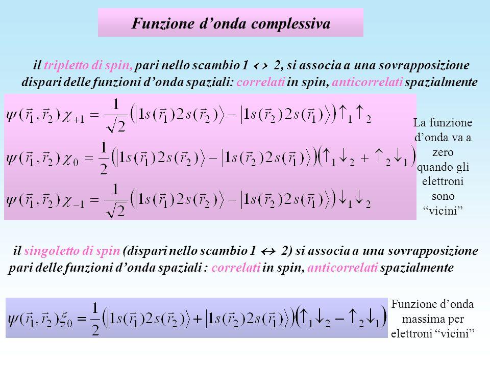 Funzione d'onda complessiva