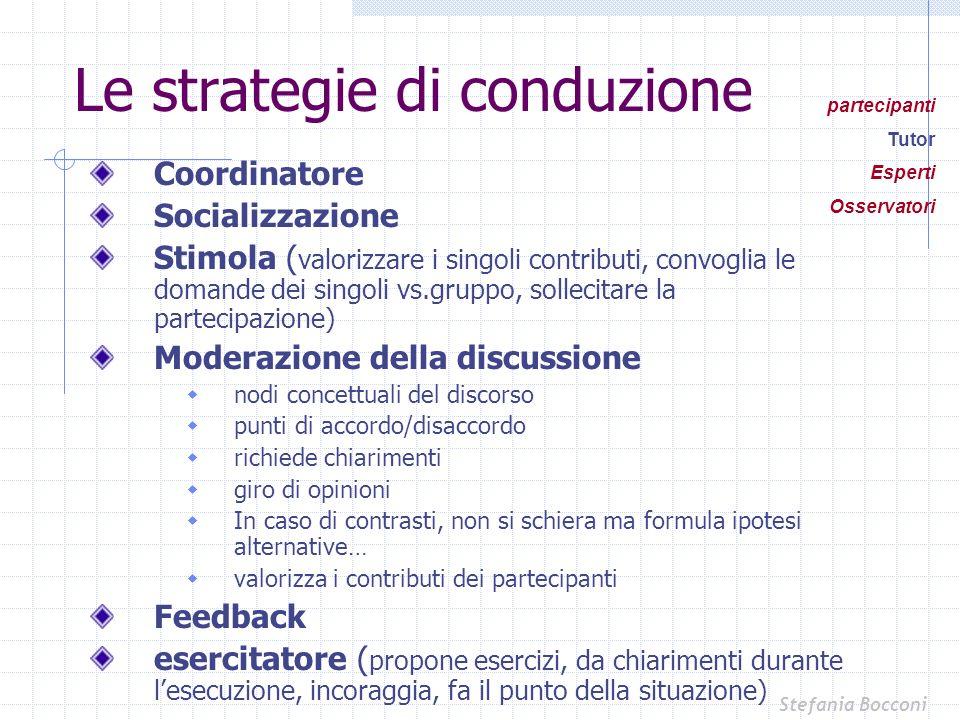 Le strategie di conduzione