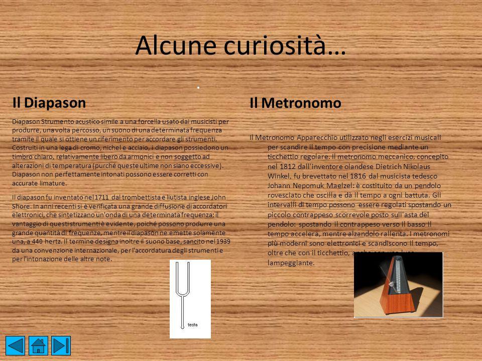 Alcune curiosità… Il Diapason Il Metronomo .