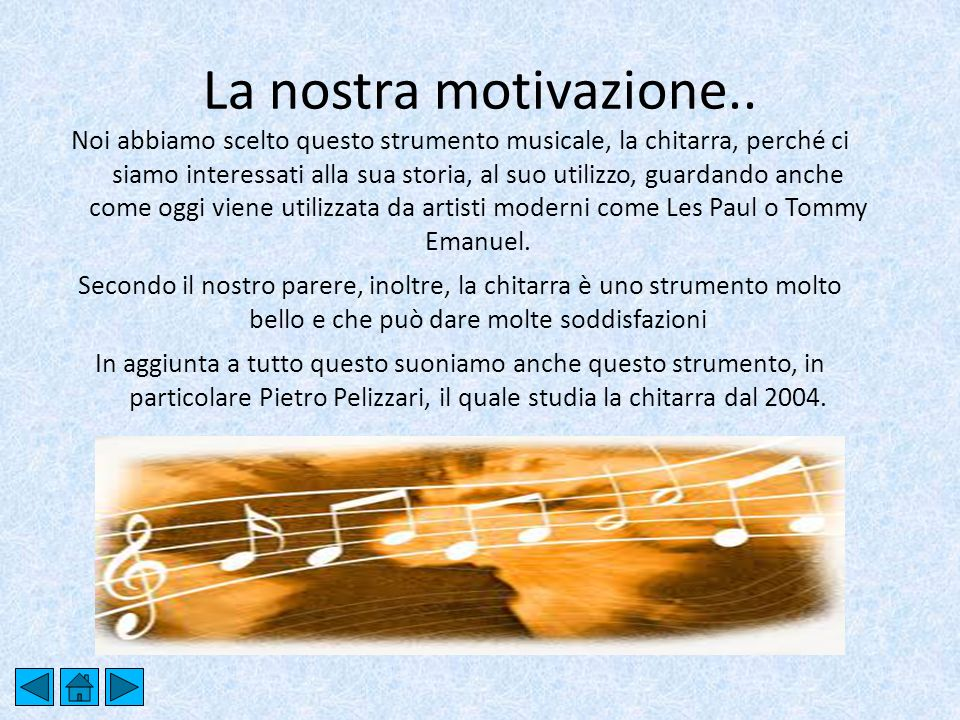 La nostra motivazione..