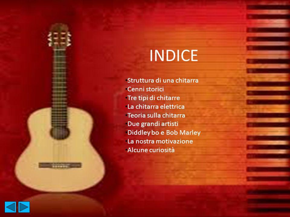 INDICE Struttura di una chitarra Cenni storici Tre tipi di chitarre