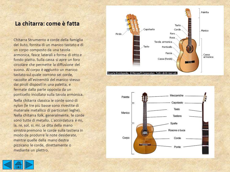 La chitarra: come è fatta
