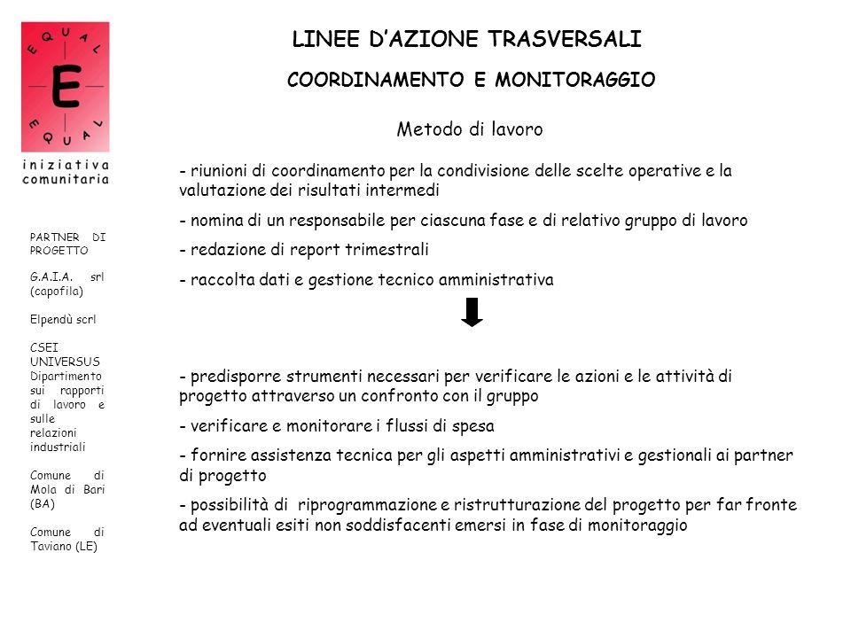 LINEE D'AZIONE TRASVERSALI
