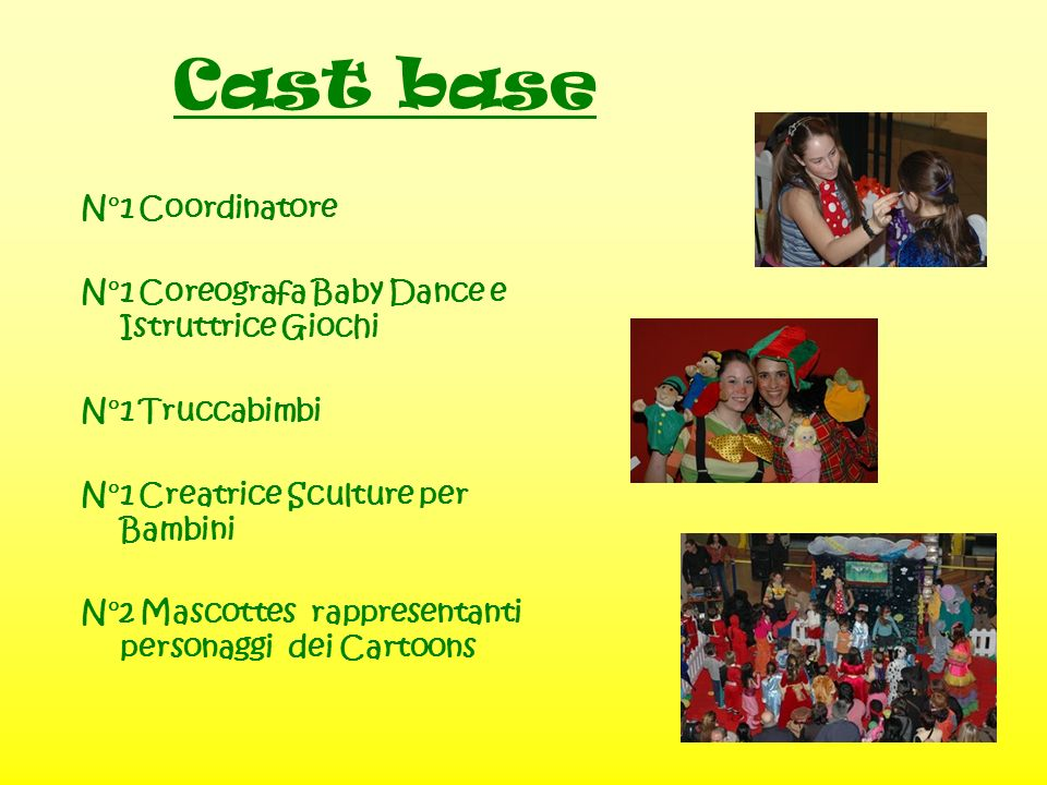 Cast base N°1 Coordinatore