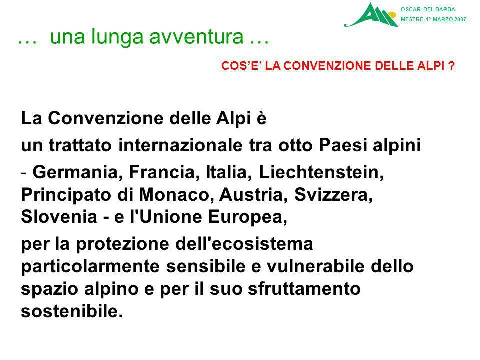 … una lunga avventura … La Convenzione delle Alpi è