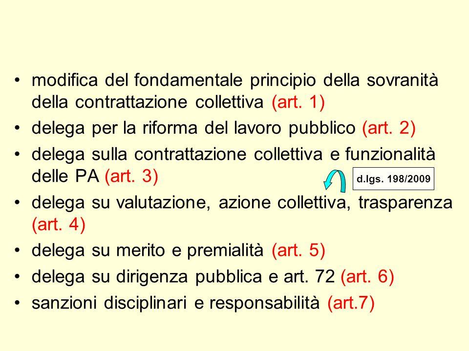 delega per la riforma del lavoro pubblico (art. 2)