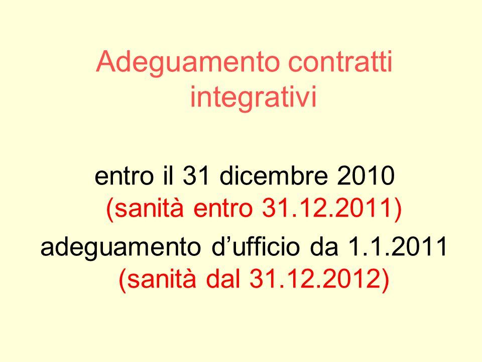 Adeguamento contratti integrativi