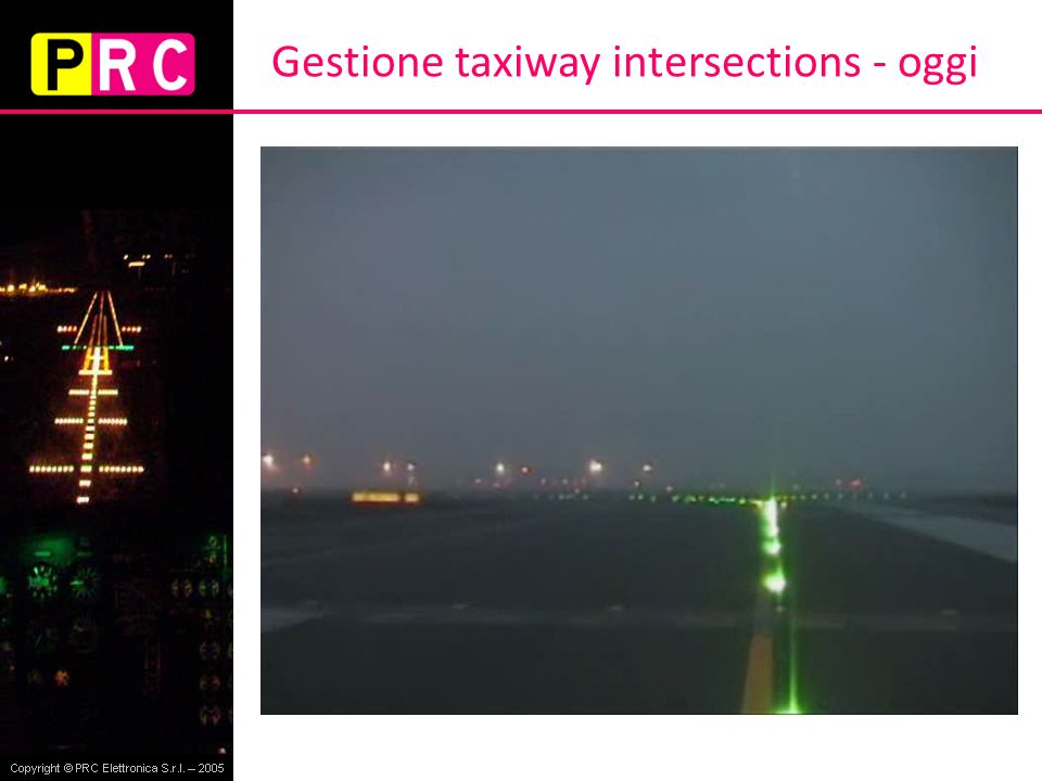 Gestione taxiway intersections - oggi